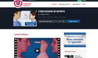 Revised Concussion Course Available on Learning Center