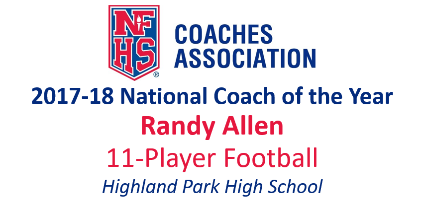 Randy Allen: National 11-Player Football Coach of the Year (2017-18)