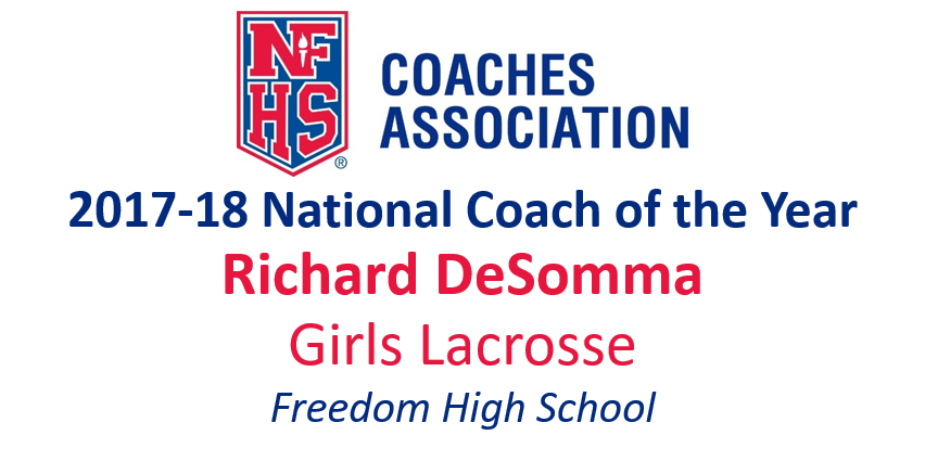 Richard DeSomma: National Girls Lacrosse National Coach of the Year (2017-18)